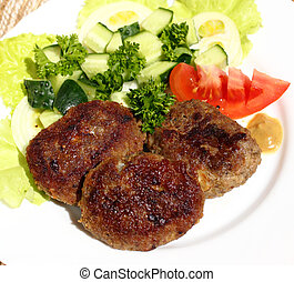 Turkey cutlets - This is a baked turkey cutlets, served with...