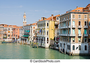 Grand Canal in Venice - Beautiful water street - Grand Canal...