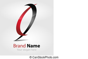 vector brand red-black logo - Originally designed vector...