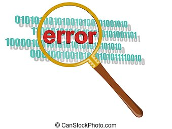 This is inspect error in magnifier It is theme of security