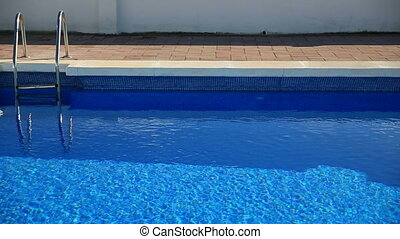 swimming pool  - edge of swimming pool with bright water