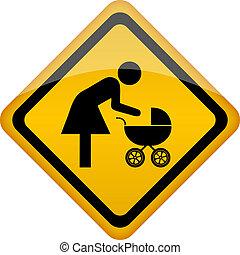 Mother restroom vector icon illustration