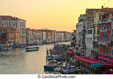 Grand Canal, Venice - Grand Canal at dusk, Venice, Italy