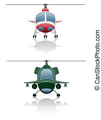 set icons helicopter vector illustration isolated on white...
