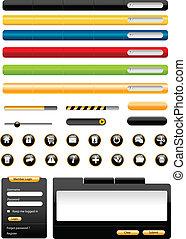 Web design elements - Set of modern Vector Web Design...