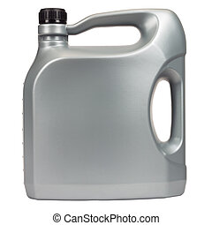 Five liter engine oil - Engine oil in a typical five liter...