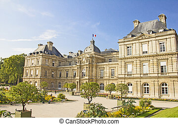 The French Senate and the Jardin du Luxembourg, Paris