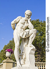 Statue in the Luxembourg Gardens, Paris