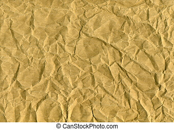 wrinkled brown paper for backgrounds, textures or layers