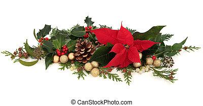 Poinsettia Floral Decoration - Christmas decorative floral...