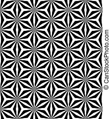 Op art pattern. Seamless geometric op art texture. Vector...