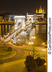 Chain Bridge and St. Stephen's Basilica - View of Chain...