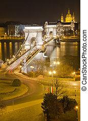 Chain Bridge and St. Stephen's Basilica - View of Chain...