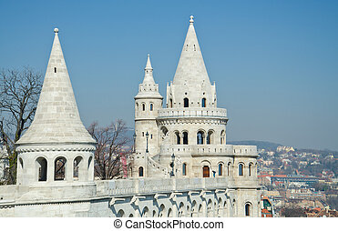 Fishermen's bastion in Budapest, Hungary