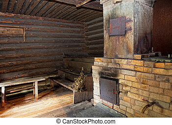 Brick oven in a Russian bath