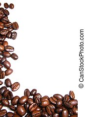 coffee beans frame with copyspace on with background...