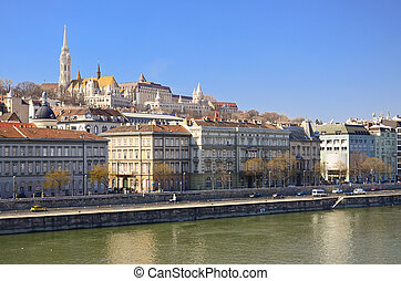 Danube river - Beautiful view on Hungarian capital city,...