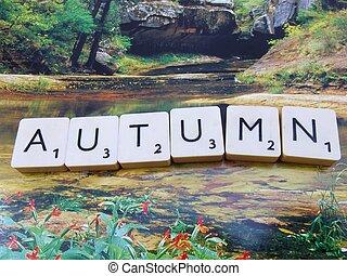 """word """"autumn"""""""
