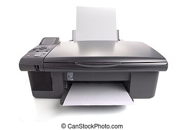 Inkjet printer with white papers You can put your images