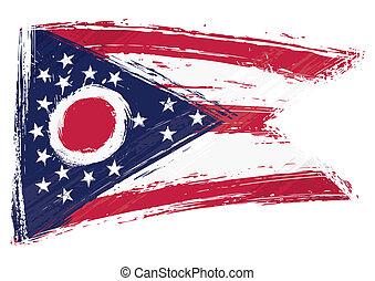 Grunge Ohio flag