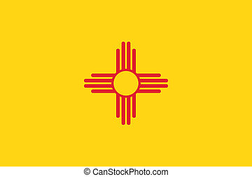 New Mexico flag - Vector State of New Mexico flag
