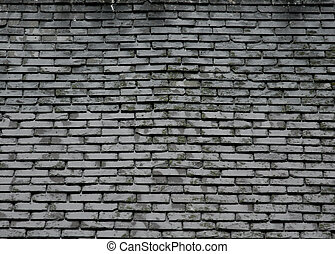 Grey Slate Roof Tile Texture Background