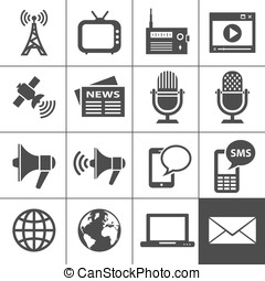 Media icons set - Simplus series - Media Icons Each icon is...