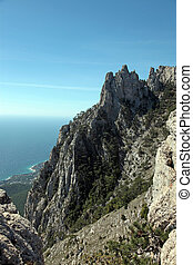 mountain Ah-Petri - Crimea. Seacoast at the foot of a hill...