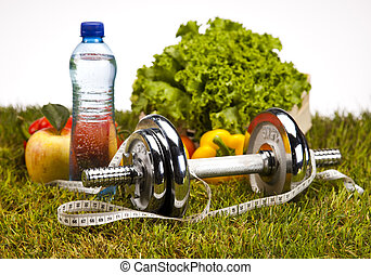Healthy lifestyle concept, vitamin - Vitamin and Fitness...