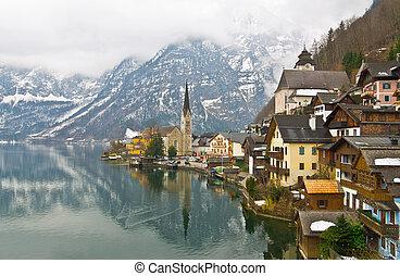 Hallstatt, Austria - Hallstatt in the winter, Austria