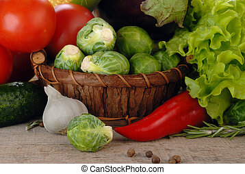Composition with vegetables