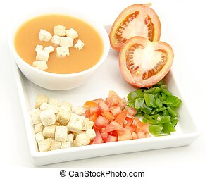 Andalusian Gazpacho - Delicious gazpacho, cold soup typical...