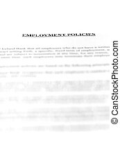 Employment Document - Employment Policies Document with...