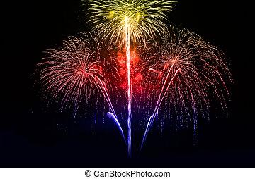 Beautiful firework - A beautiful firework in the night sky