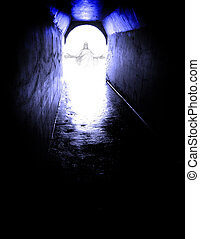 From the Dark to the Light of Jesus - Long tunnel walkway...