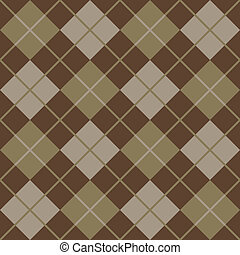 Argyle Pattern in Brown