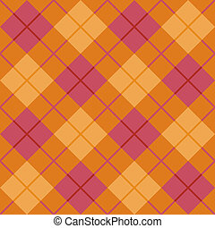 Bias Plaid in Orange and Pink - Vector seamless vector...