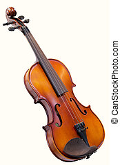 violin under the white background