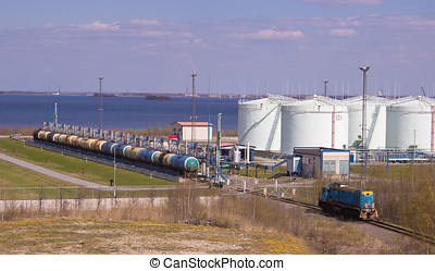 photo of the oil terminal - the terminal for storage of oil...