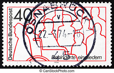 Postage stamp Germany 1974 Handicapped People