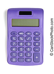violet calculator - Image of violet calculator isolated on...
