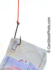 Twenty Pound Note as bait