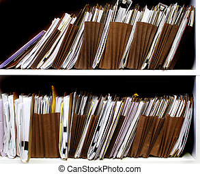 Files on Shelf - Office shelves full of files and boxes
