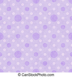 Purple and White Polka Dot Fabric Background that is...