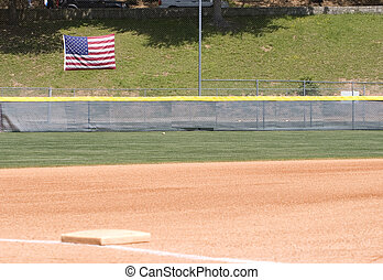 American Outfield - An outfield of a baseball or softball...