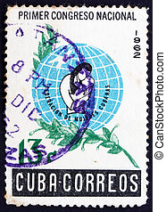 Postage stamp Cuba 1962 Mother with Child