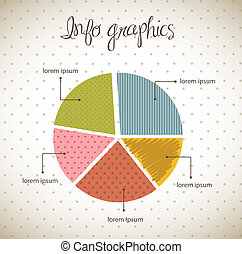 bar graph - vintage bar graph over beige background. vector...