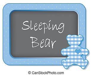 Sleeping Bear - Baby teddy bear nap time nursery bulletin...