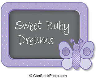 Sweet Baby Dreams Butterfly - Baby butterfly nap time...