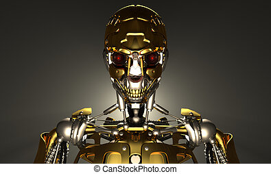 Advanced robot - 3d render of advanced robot